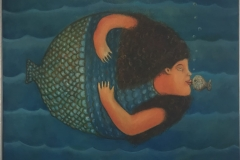 La Sirena, 1991 Oil on canvas 19x23.5  Inch