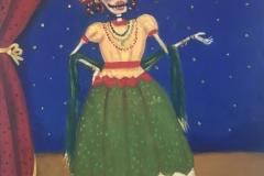 Lapetenera (Calavera Cantante), 2017 Acrilyc on canvas 24x20 Inch
