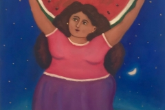 Muchacha con Sandia, 2017 Oil on canvas 24x20 Inch