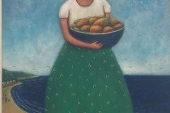 Niña con frutas, 2017 Oil on canvas 22.5x16 Inch
