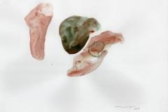 Tres figuras, 2003, Gouache,papel 31x28cms