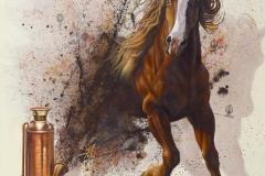 Caballo de fuego, 2017, mixta tela, 125x145 cms