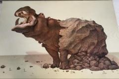 Saliendo de la roca II, Mixta tela, 75x105.5cms